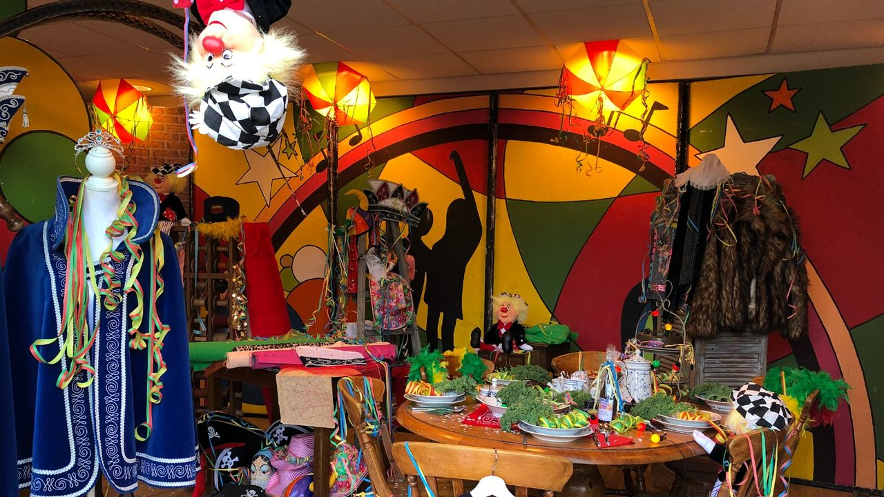 Voormalig winkelpand omgetoverd tot carnavalshuis