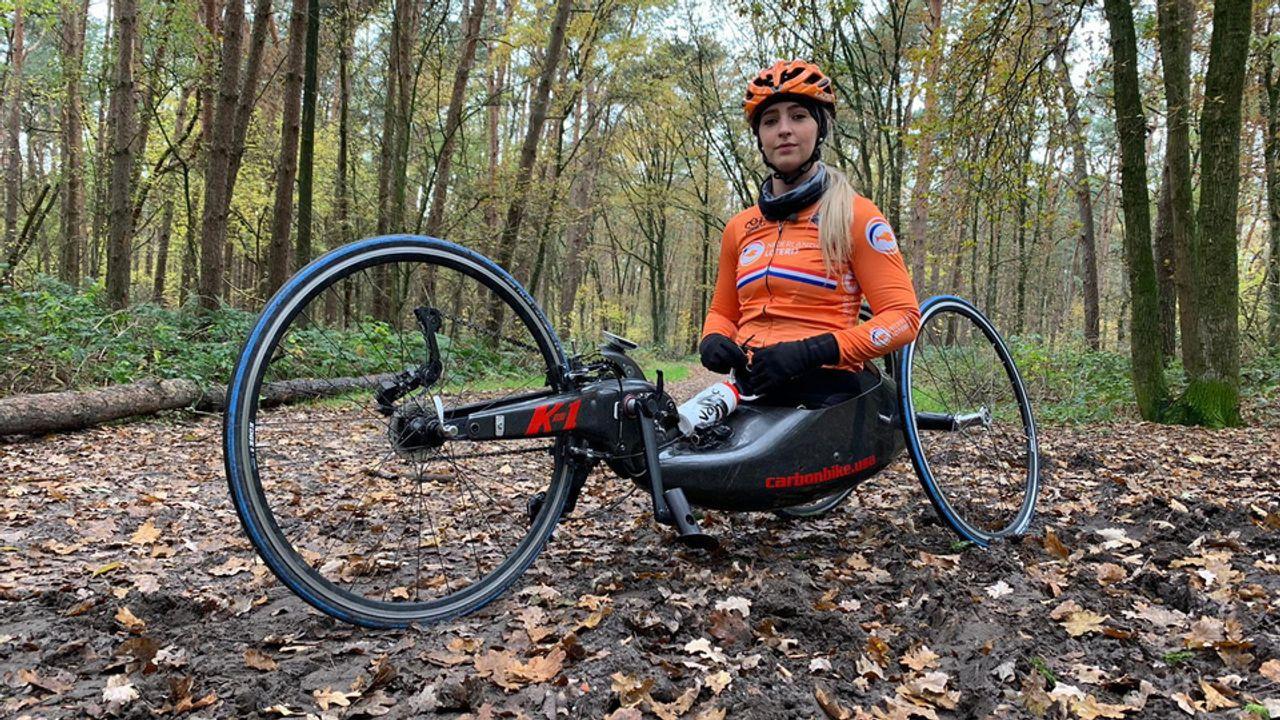 Chantal Haenen pakt goud op WK Handbike in Portugal