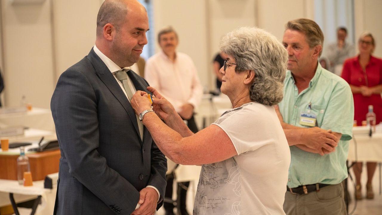 Wethouder Rudy Tegels koninklijk onderscheiden