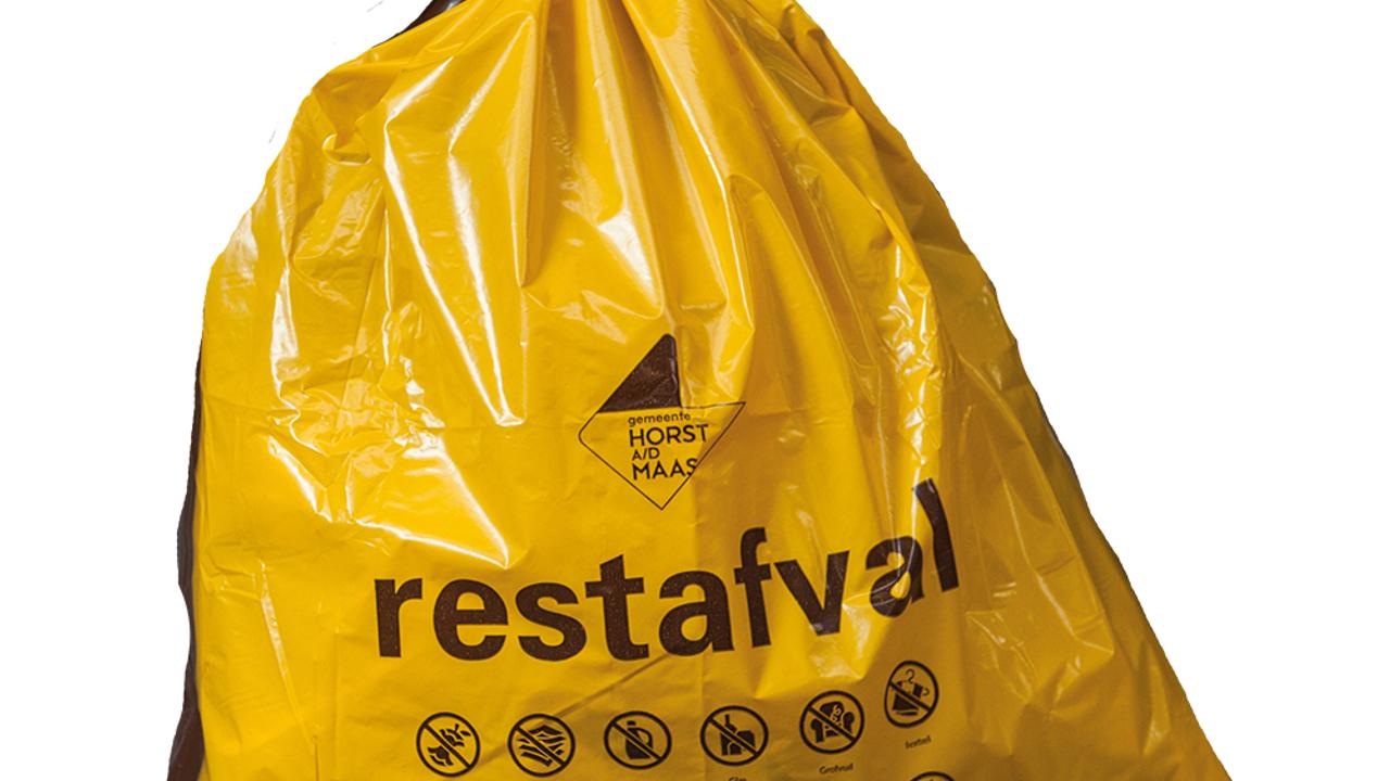 Tariefzak restafval wordt geel
