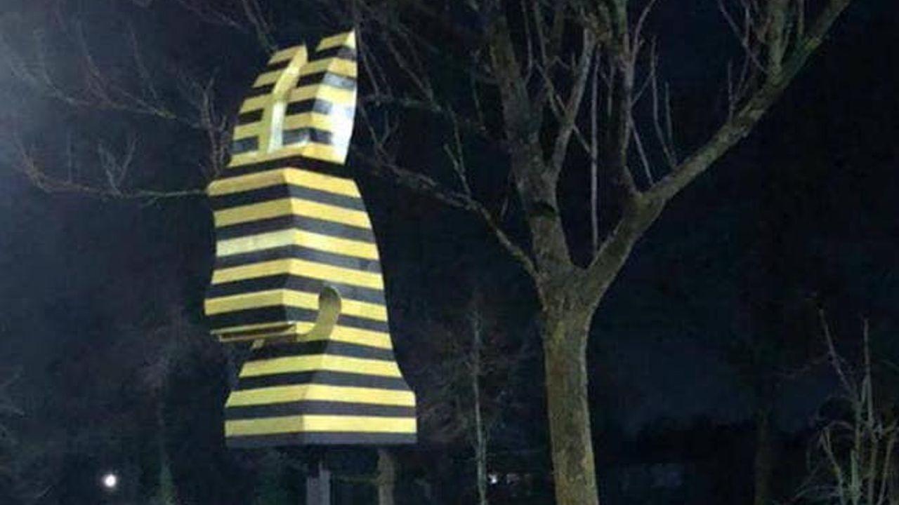 'Zaerums kunstwerk' geplaatst op rotonde
